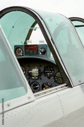 Photo Small Airplane cockpit detail