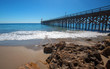 Fishing Pier and boat hoist at Gaviota Beach State Park on the central coast of California United States