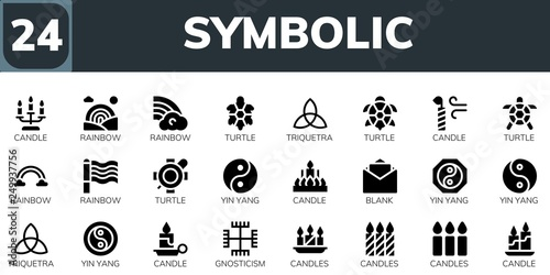 Fotografía  symbolic icon set