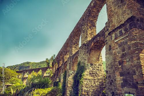 Fotografía  Aqueduct of the Pillars,  Ischia Island, Naples.