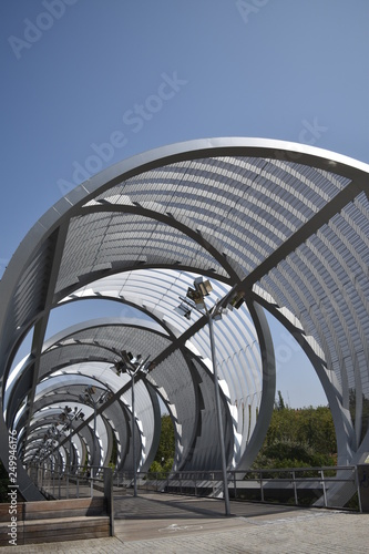 Photo Arganzuela footbridge, Madrid, Spain.