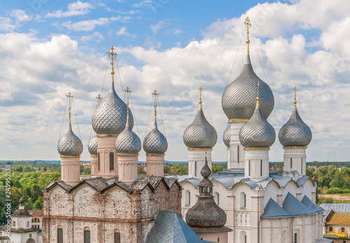 Fotografie, Tablou  View of the church domes of the Rostov Kremlin
