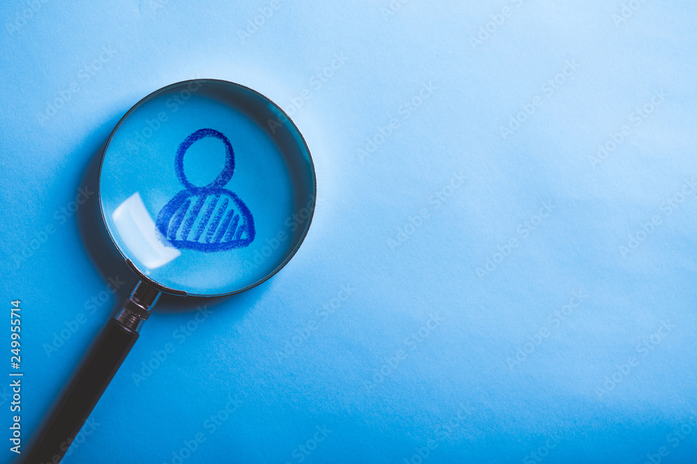 Fototapeta Concept of search for worker