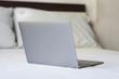 laptop on background.
