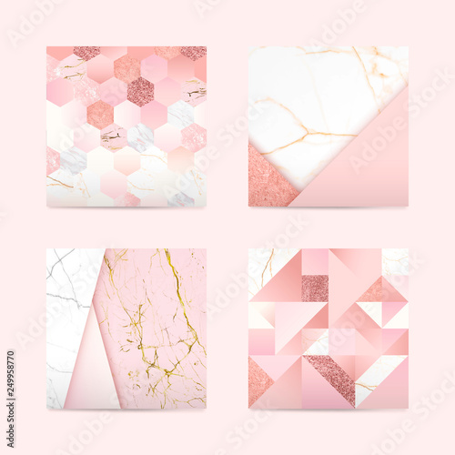 Girly pink background Canvas Print