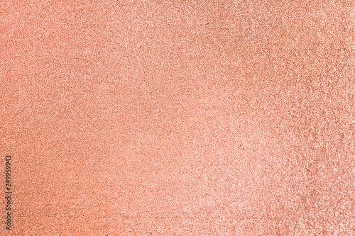 Fotografie, Tablou Close up of peach glitter textured background