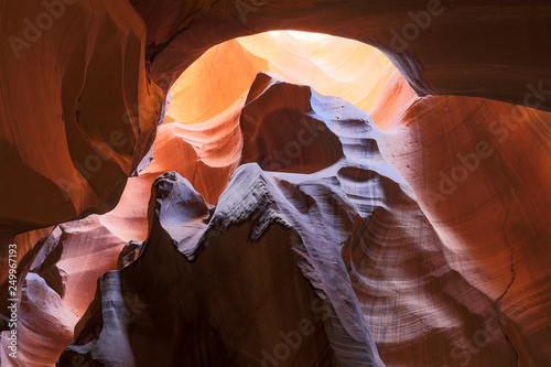 Valokuva  Landscape of Sandstone, light and shadows in Upper Antelope Canyon in Page, Ariz