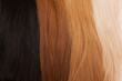 Natural hair for extensions. Different colors from black to blonde.