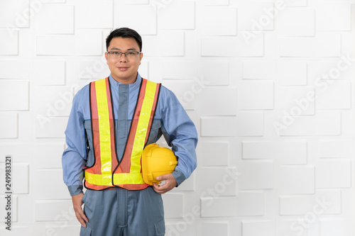 Vászonkép Asian man working