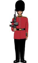 Palace Guard Vector Illustration