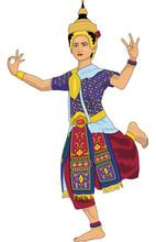 Thai Dancer Vector Illustration