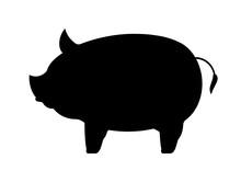 豚のシルエット