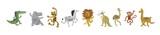 Fototapeta Fototapety na ścianę do pokoju dziecięcego - Vector illustration set of cute dancing animals in cartoon style