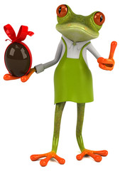 Zabawa ogrodnik żaba - ilustracja 3D