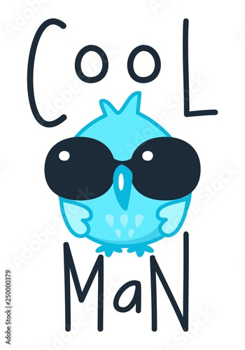 owl, sun glasses, cool, cartoon, vector, cute, set, bird