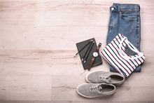 Stylish Male Clothes With Stat...