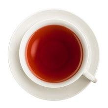 Cup Of Tea, Isolated On White Background, Clipping Path, Full Depth Of Field