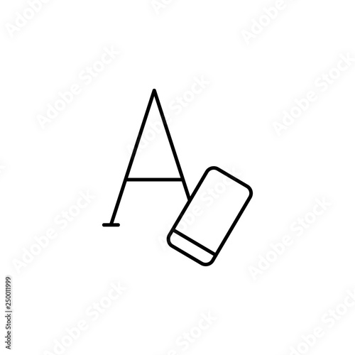 Photo  clear, erase, text, formatting icon