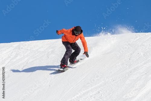 Photographie  vacanze invernali sulla neve - snowboarder