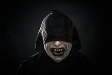 Scary Figure In Hooded Cloak S...