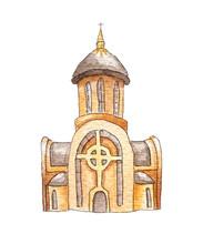 New Ukrainian Greek Catholic Church Isolated In White Background