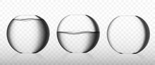 Realistic Glass Fishbowl Collection Or Round Aquarium