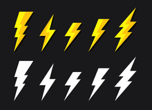 Battery Charger, Lightning Bolt Or Thunderbolt Symbol