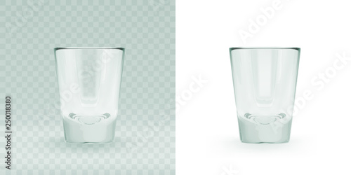 Canvas Print Empty transparent triangular glass for cosmopolitan cocktail
