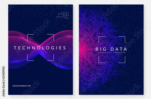 Cuadros en Lienzo Big data background