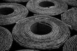 canvas print picture - Roofing felt. Rolls of Bitumen