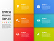 Design of colorful company infographic with icons. Vector