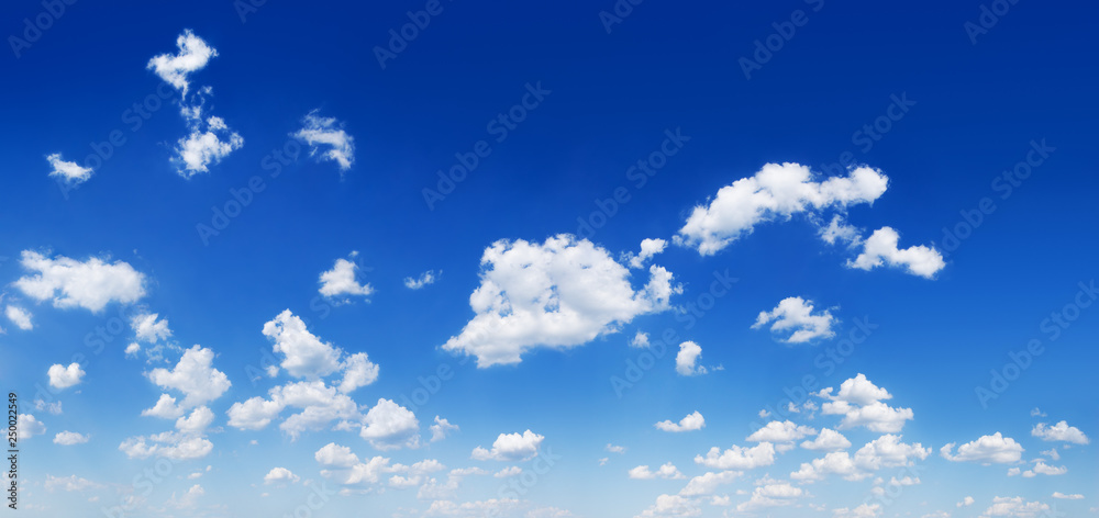 Fototapety, obrazy: Panorama - Blue sky and white clouds
