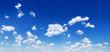 Leinwanddruck Bild - Panorama - Blue sky and white clouds