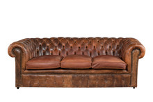 Brown Leather Chesterfield Sof...