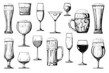 Big Set Of Different Alcoholic...