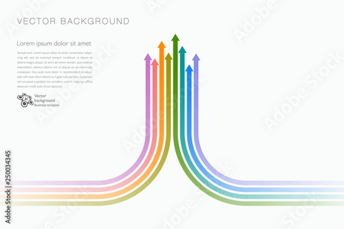 Fototapety, obrazy: Upward, Arrow Graphic, Vector Background