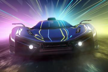 Auto und Lichteffekte (3D R...