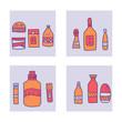 Beauty supplies set. Vector design illustration.