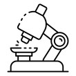 Chemistry microscope icon. Outline chemistry microscope vector icon for web design isolated on white background