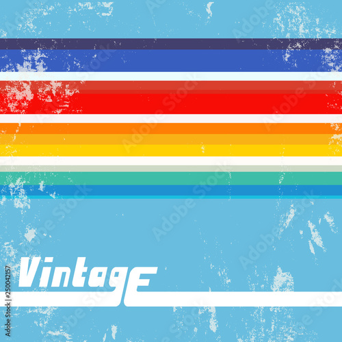 Retro background with colorful lines Poster Mural XXL
