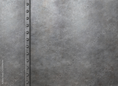 Fotografia Metal rustic armor background with rivets 3d illustration