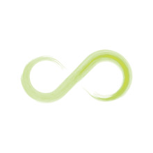 Green Infinity Symbol Icon. Ha...