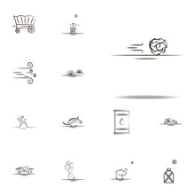Tumbleweed Desert Icon. Desert Icons Universal Set For Web And Mobile