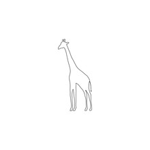 Giraffe. Flat Vector Icon