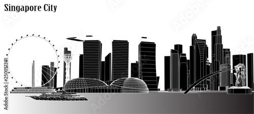 Photo  Vector city singapore