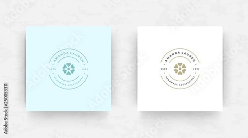 Fotografía  Elegant brand logo design template vector illustration.