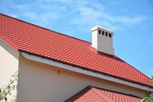 Red Metal Tile Roof. Metal Hou...
