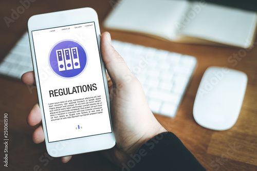 Fototapety, obrazy: REGULATIONS CONCEPT ON SCREEN