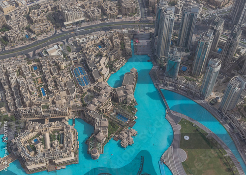 Canvas Print Dubai, United Arab Emirates - the Burj Khalifa is the tallest structure and building in the world, with its 828 meters