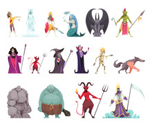 Evil Characters Fantasy Set